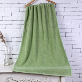 28-Inch-by-55-Inch Green Soft Cotton Bath Towel
