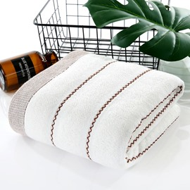 Quick-Dry Rectangular Korean Style Color Block Bath Towel
