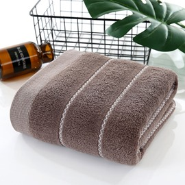 Color Block Quick-Dry Cotton Korean Style Rectangular Bath Towel