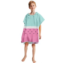 Fade Resistant Cotton Plush Kids Hooded Bath Towel