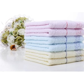 Comfortable Water Cube Jacquard Face & Hand Towel