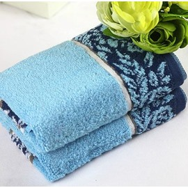 New Arrival 100% Cotton Decorative Border Simple Design Towel