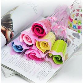 Romantic Melting Rose Design Full Cotton Towel