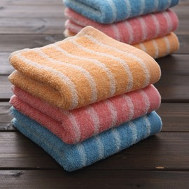 Top Selling Stylish Plush Stripe Pattern Cotton Towel
