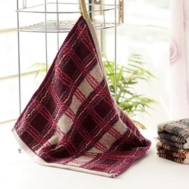 High Quality Plush Full Cotton Plaid Towel