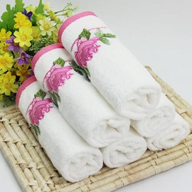 Elegant Rose Jacquard Comfy 100% Cotton Towel