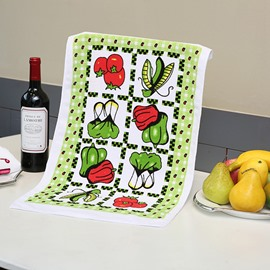 Fresh Vegetables Printing Ultrafine Fiber Face & Hand Towel