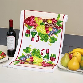 Modern Fashion Fruits and Red Wine Ultrafine Fiber Tower