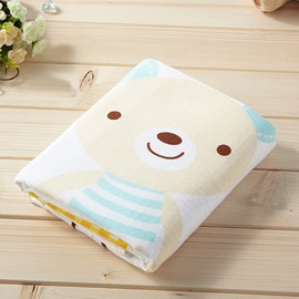 Cartoon Pattern Rectangular Soft Cotton Face&Hand Towel