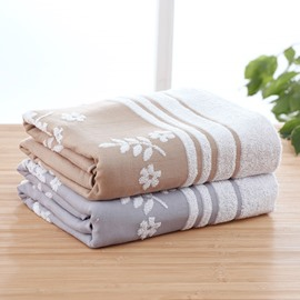 Quick-Dry Cotton Rectangular Floral Pattern Face&Hand Towel