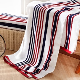 Stripe Pattern Rectangular Quick-Dry Soft Cotton Face&Hand Towel