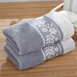 Square Shape Floral Pattern Soft Cotton Face&Hand Towel