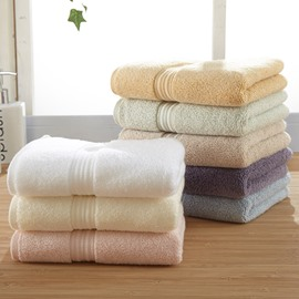 Plain Pattern Quick Dry Soft Cotton Face&Hand Towel