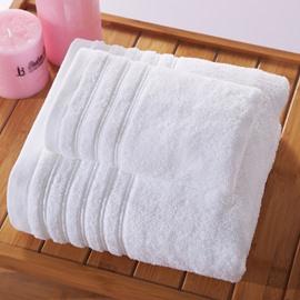 Rectangular Indoor Cotton Plain Pattern Face&Hand Towel