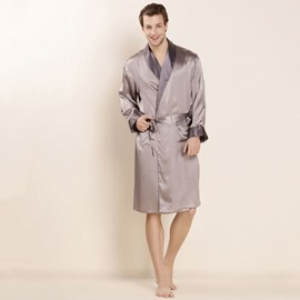 Mulberry Silk Delicate Materials Luxury Men's Bathrobe