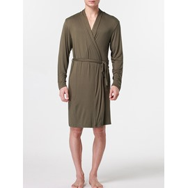 Dark Green Modal Material Sexy Style Male Bathrobe