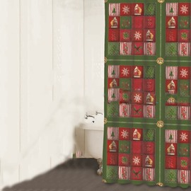 Happy Santa Claus Christmas Tree Snowflake Print 3D Shower Curtain