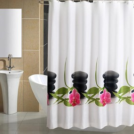 Graceful Fashion Stone Orchid High Quality Shower Curtain