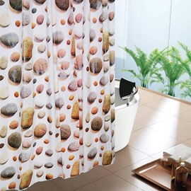 Chic Classical Cobblestone Printing High Quality Shower Curtain