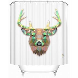 Fancy Vivid Deer Print 3D Prismatic Shower Curtain