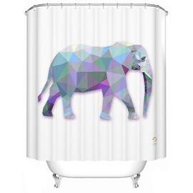 Creative Fashioable 3D Prismatic Elephant Shower Curtain