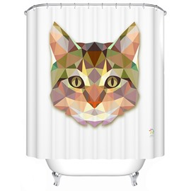 Hot Selling Amazing 3D Prismatic Cat Shower Curtain
