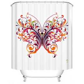 Romantic Artistic Colorful Butterfly Polyester Shower Curtain