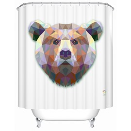 Vivid Gorgeous 3D Prismatic Bear Shower Curtain