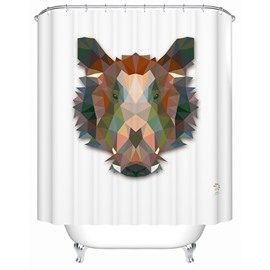 Amazing 3D Prismatic Wild Boar Shower Curtain