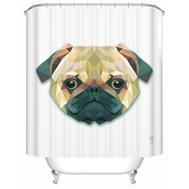 Allegiant Vivid  3D Prismatic Friendly Dog Shower Curtain