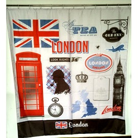 European Style Big Ben in London 3D Shower Curtains