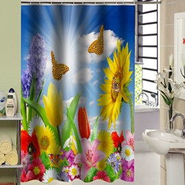New Arrival Peaceful Butterfly Print 3D Shower Curtain