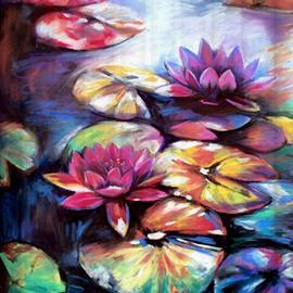 Charming Retro Style Lotus Design 3D Shower Curtain