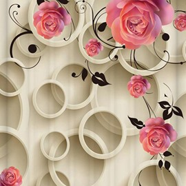 Hot Selling Flower Design 3D Shower Curtain