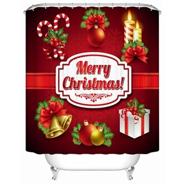 Wonderful Festive Christmas Ingredients Gather 3D Printing Shower Curtain