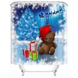 Wonderful Dreamlike Lovely Bear and Presents Shower Curtain