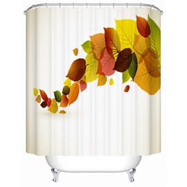 Modern Pretty Concise Colorful Leaves 3D Shower Curtain