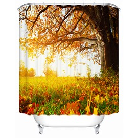 Glamorous Autumn Falling Leaves View 3D Shower Curtain