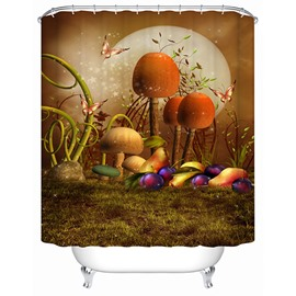 Wonderful Fancy Fairytale Mushroom 3D Shower Curtain