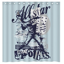 Creative Design Golf Star 3D Shower Curtain