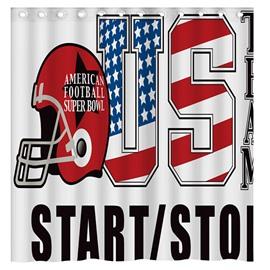 Modern Concise American Football Super Bowl 3D Shower Curtain