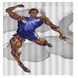 Creative Design Muscle Man 3D Shower Curtain