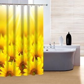 Wonderful Fabulous Bright Sunflower Clusters 3D Shower Curtain