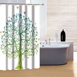 Fashion Pretty Concise Artistic Tree Print 3D Shower Curtain