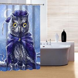 Creative Design Super Cool Night Owl 3D Shower Curtain