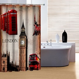 Classic London Big Ben 3D Shower Curtain