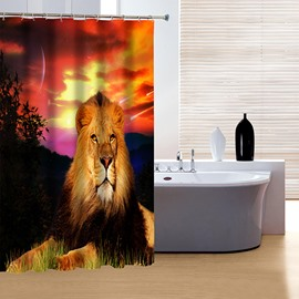Majestic the King of Forest Lion 3D Shower Curtain