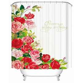 Wonderful Glamerous Colorful Roses 3D Shower Curtain