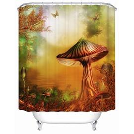 Fairytale Mysterious Mushroom Valley 3D Shower Curtain
