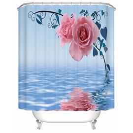 Modern Faddish Beautiful Pink Roses 3D Shower Curtain